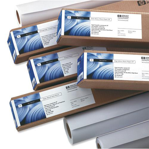 Hewlett Packard HP Bright White Inkjet Paper Roll 90gsm 841mm x 45.7m White Ref Q1444A