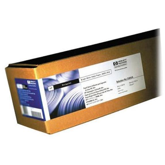 Other Sizes Hewlett Packard HP Bright White Inkjet Paper Roll 90gsm 594mm x 45.7m White Ref Q1445A