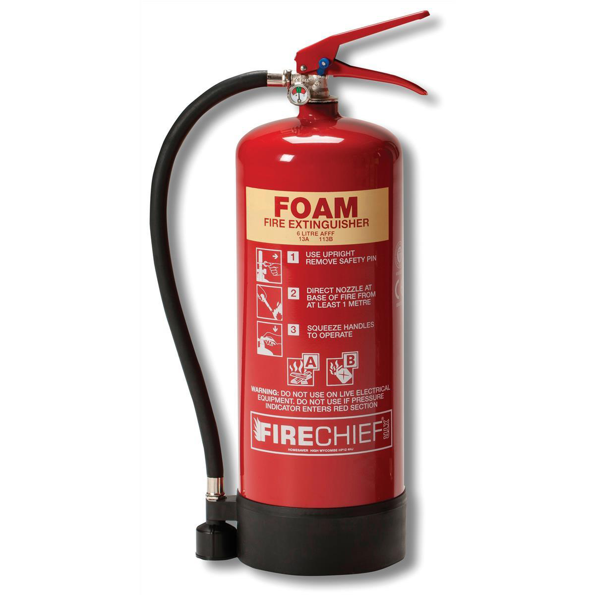 Firechief 6.0LTR Foam Fire Extinguisher for Class A and B Fires Ref WG10144