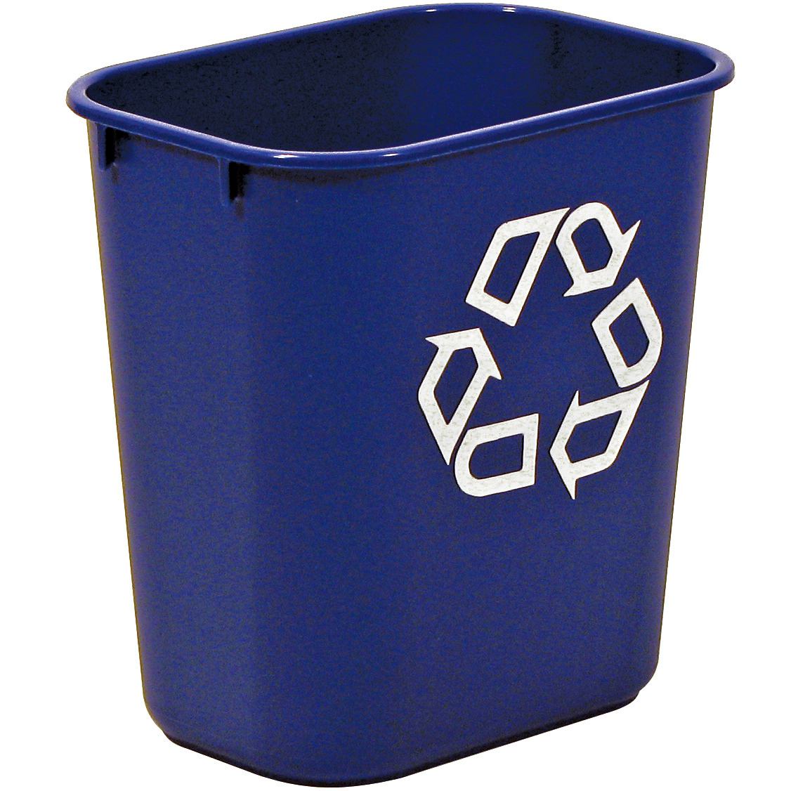 Recycling Bins Rubbermaid Waste Basket Polyethylene Rectangular 26.6 Litres 365x260x380mm Blue Ref FG295673BLUE
