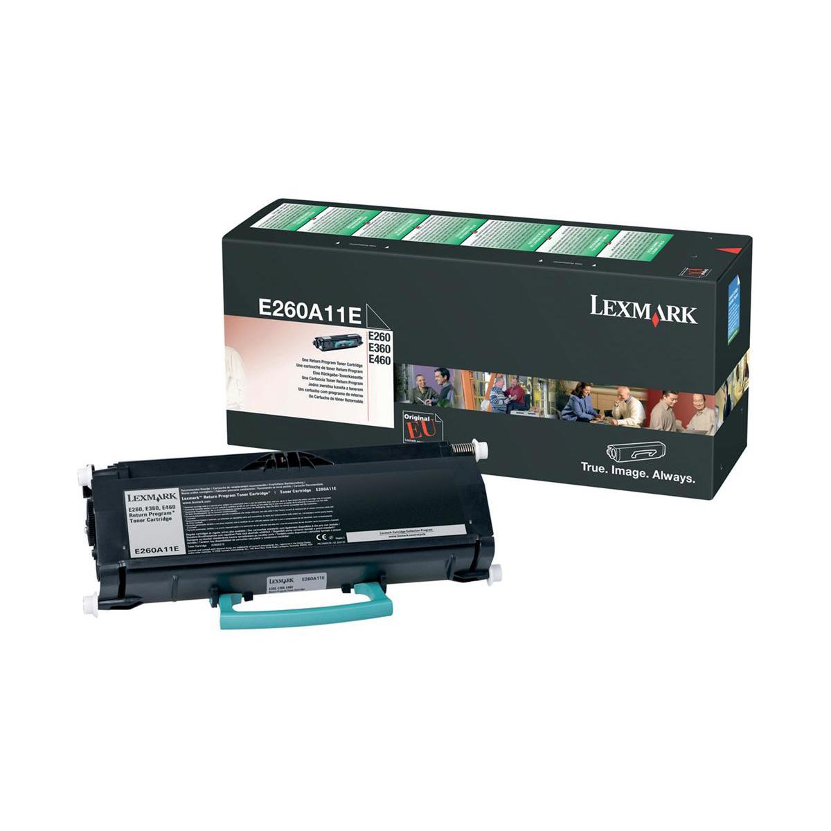 Lexmark E260/E360/E460 Laser Toner Cartridge Return Programme Page Life 3500pp Black Ref E260A11E