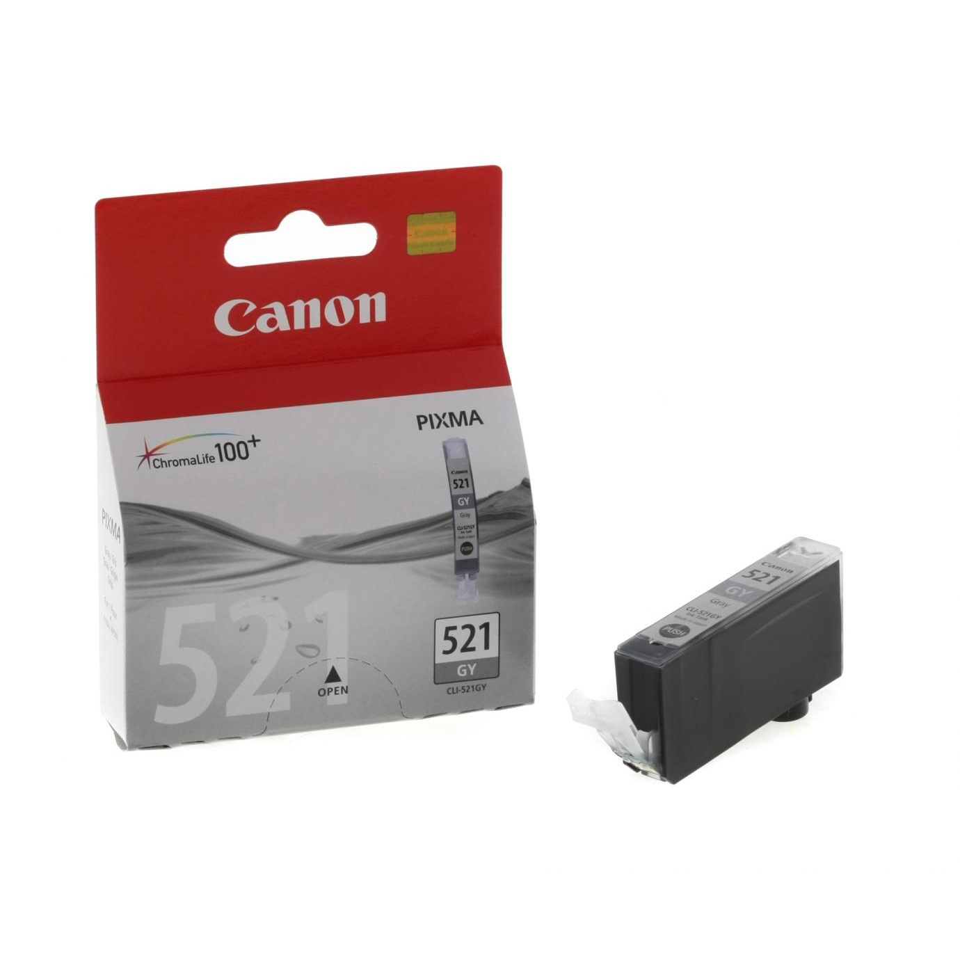 Canon CLI-521GY Inkjet Cartridge Page Life 1370pp 9ml Grey Ref 2937B001AA