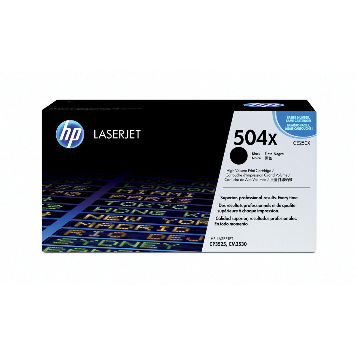 HP 504X Laser Toner Cartridge High Yield Page Life 10,500pp Black Ref CE250X