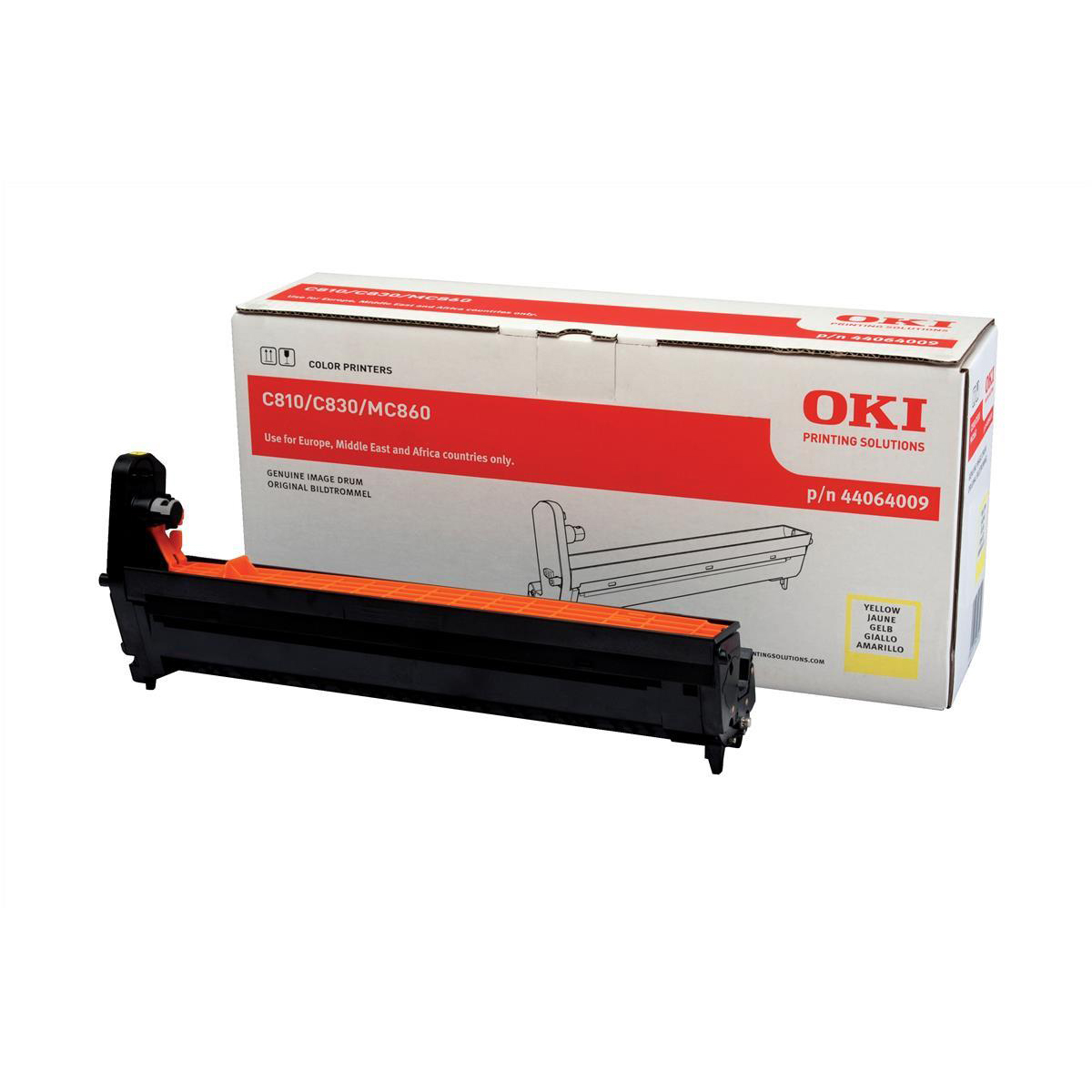 OKI Laser Drum Unit Page Life 20000pp Yellow Ref 44064009