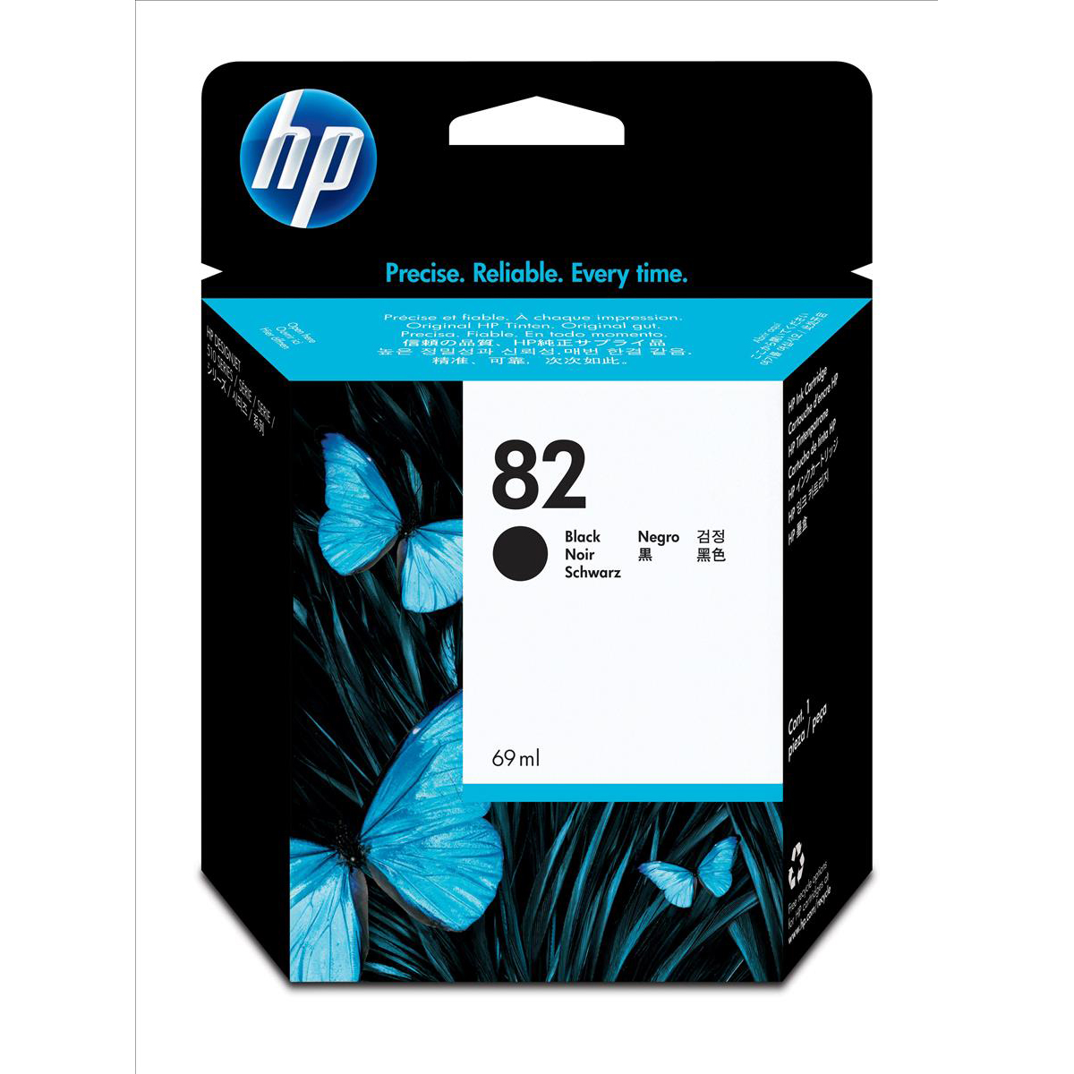 Hewlett Packard HP No.82 Inkjet Cartridge High Yield 3200pp 69ml Black Ref CH565A