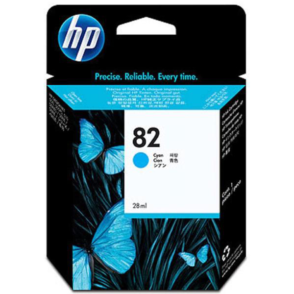 Hewlett Packard [HP] No. 82 Inkjet Cartridge 28ml Cyan Ref CH566A