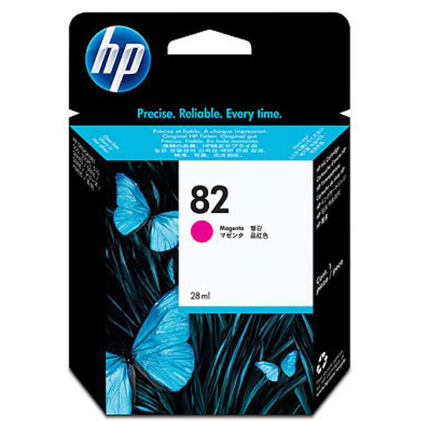 Hewlett Packard [HP] No. 82 Inkjet Cartridge 28ml Magenta Ref CH567A