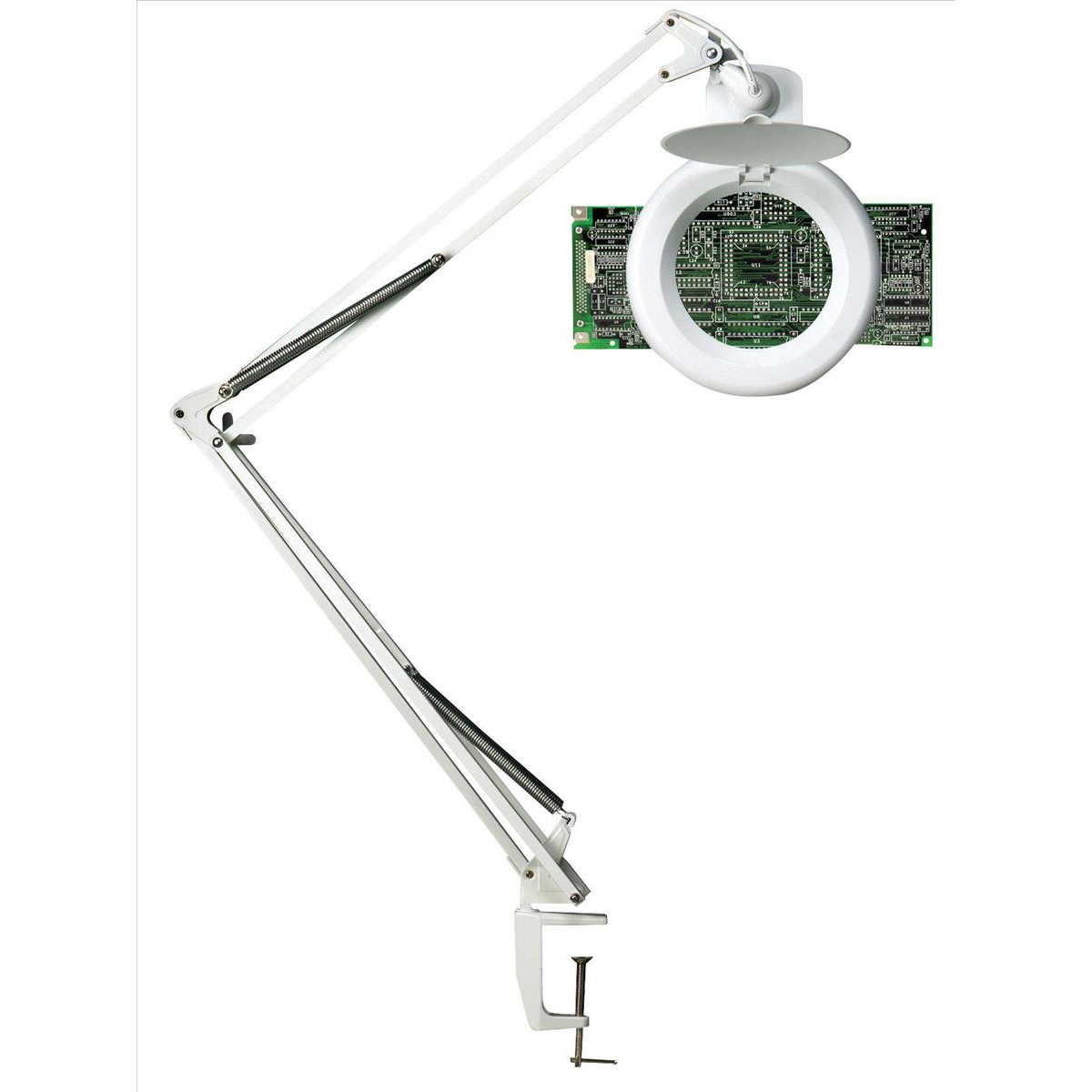 Unilux Magnifier Lamp 3 Diopters 22W Maximum Height of 1000mm Base Size 105mm White Ref 100340268