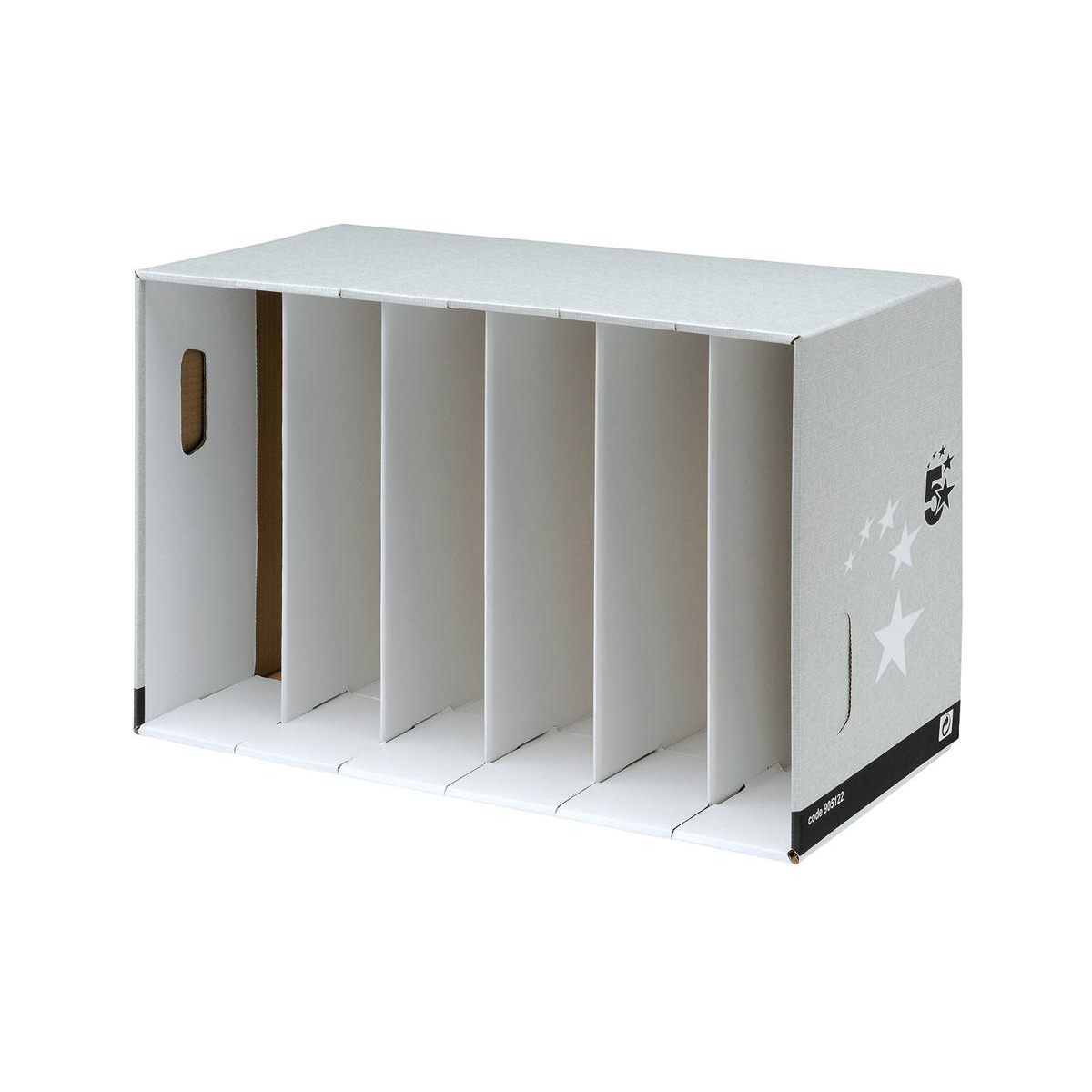 5 Star Facilities Lever Arch Module for 6 Files Grey [Pack 5]