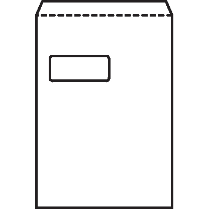 5 Star Office Envelopes PEFC Pocket Peel & Seal Window 100gsm C4 324x229mm White Pack 250