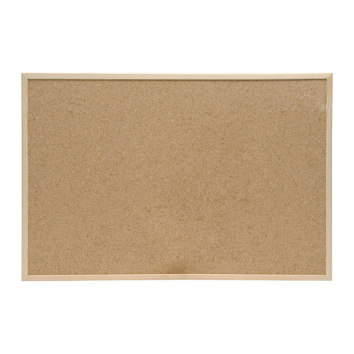 5 Star Office Noticeboard Cork with Pine Frame W600xH400mm