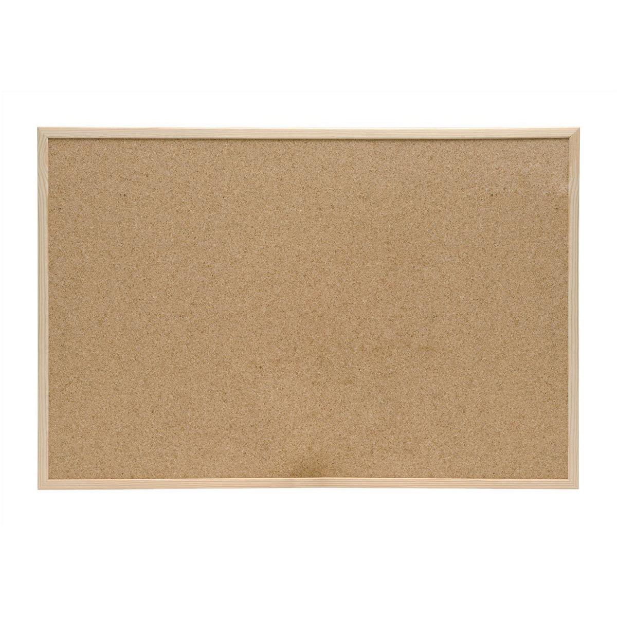 Cork 5 Star Office Noticeboard Cork with Pine Frame W900xH600mm
