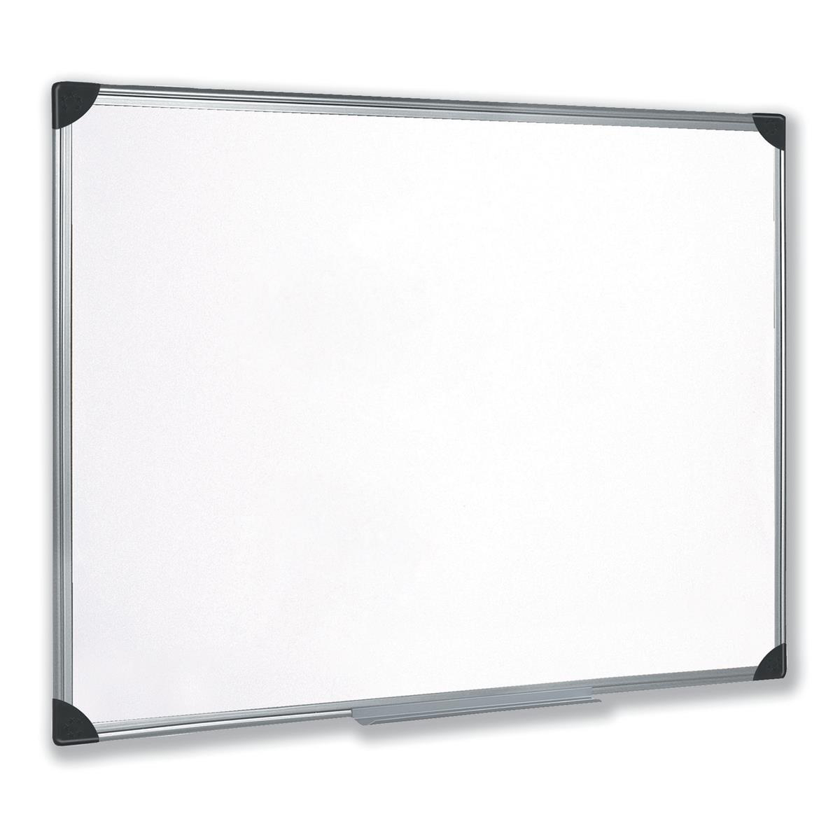 Magnetic 5 Star Office Whiteboard Drywipe Magnetic with Pen Tray and Aluminium Trim W900xH600mm