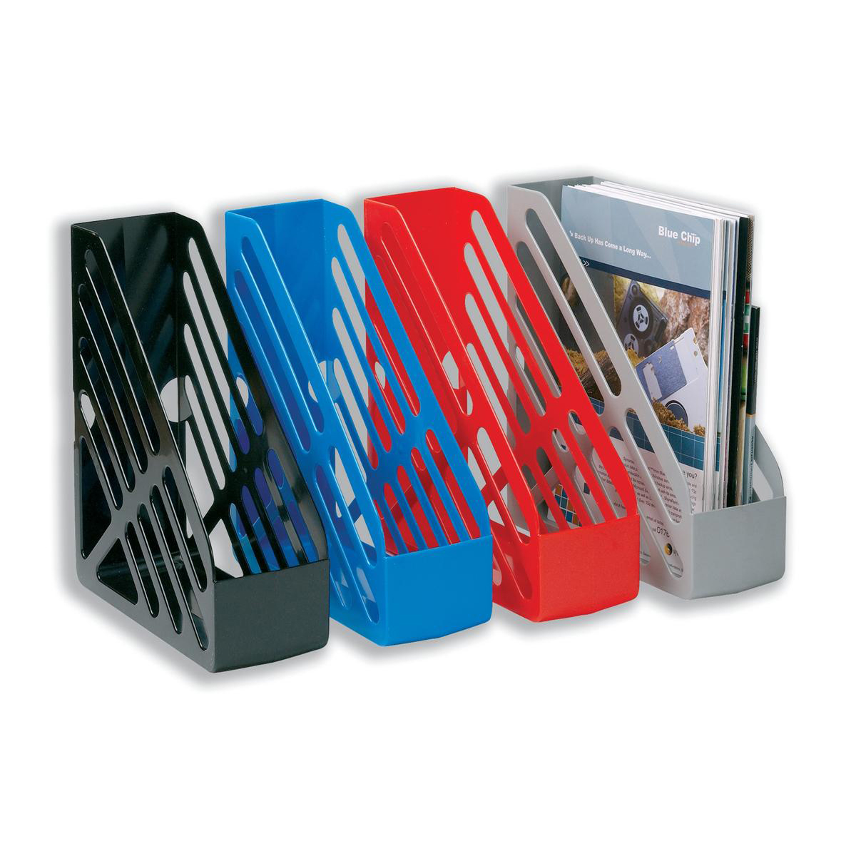 Image for 5 Star Office Magazine Rack File Foolscap Black
