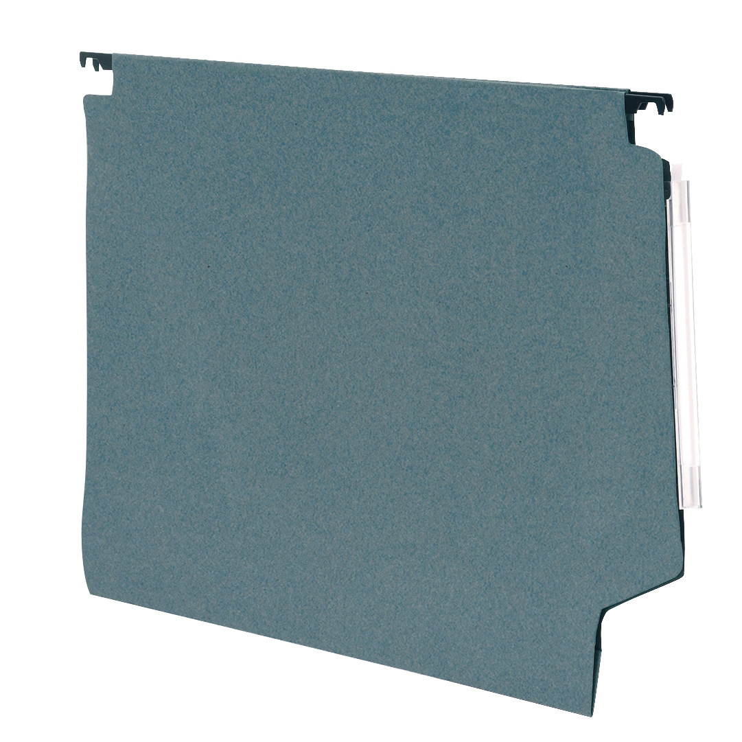 5 Star Office Lateral Suspension File Manilla 15mm V-base 180gsm Foolscap Green [Pack 50]
