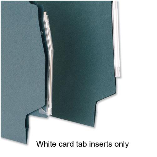 5 Star Office Card Inserts for Lateral Suspension File Tabs White Pack 56