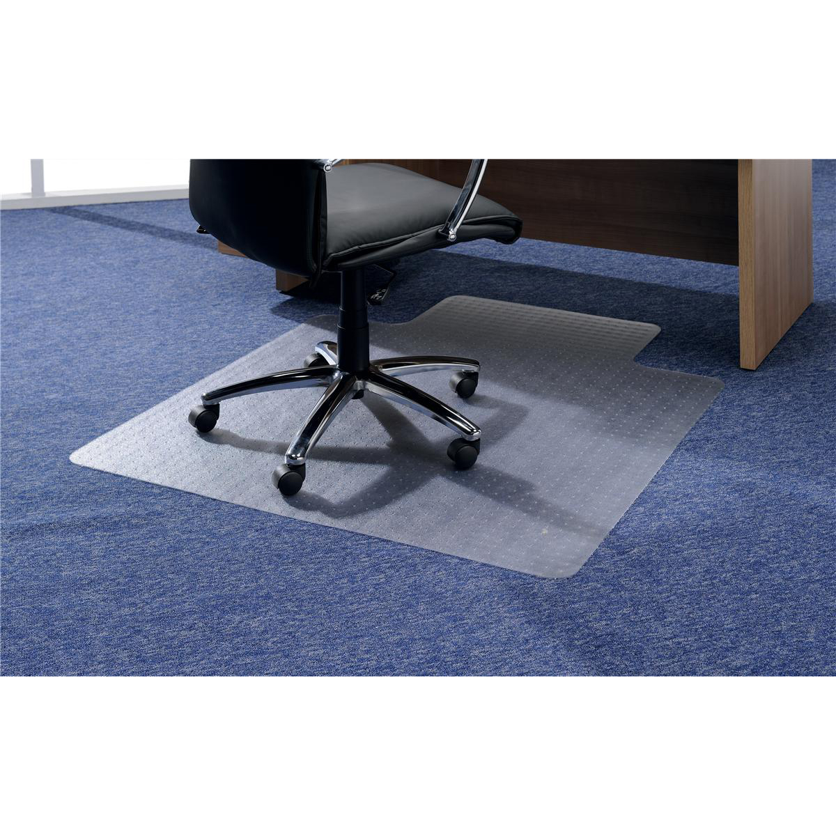Image for 5 Star Office Chair Mat For Hard Floors PVC Lipped 900x1200mm Clear/Transparent