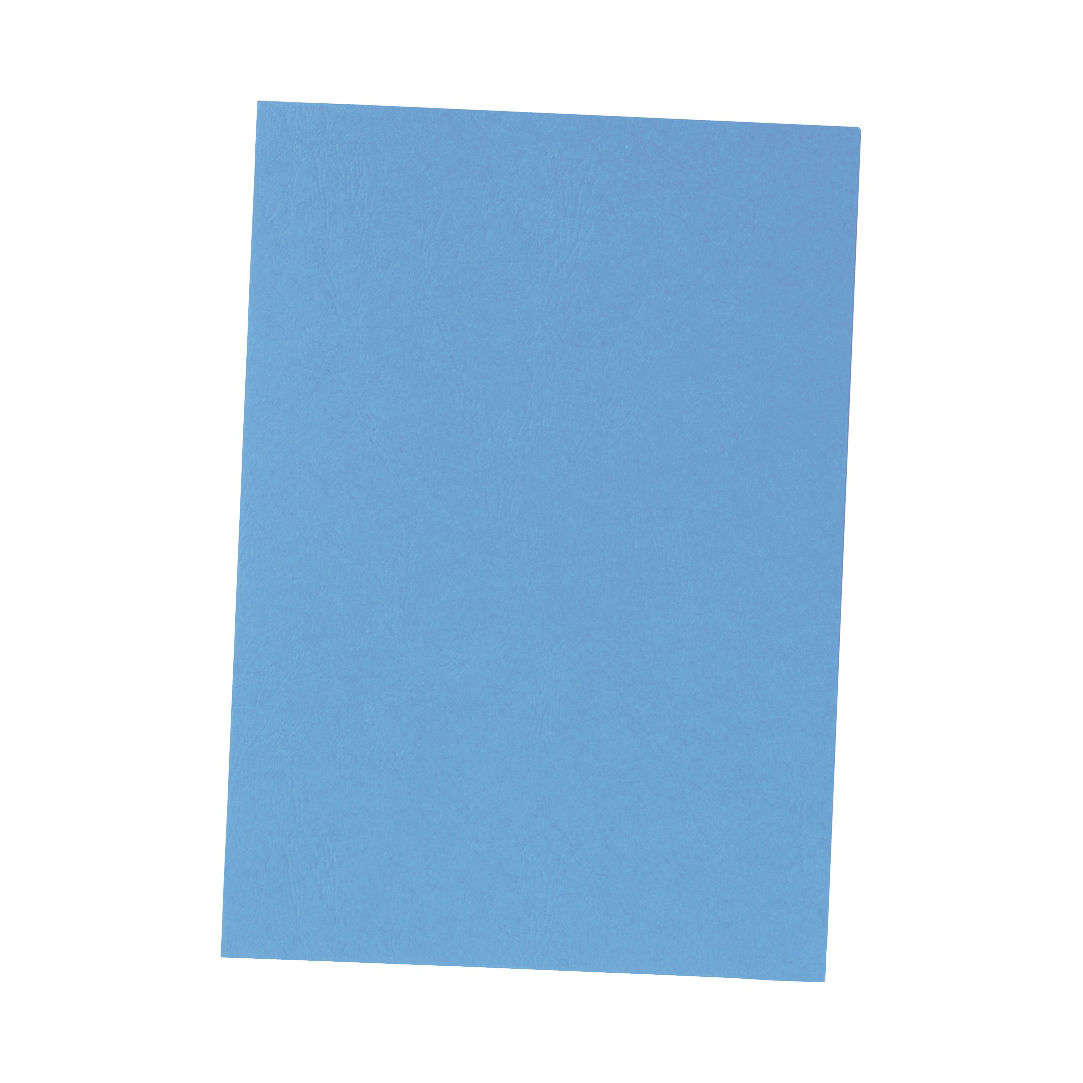 5 Star Office Binding Covers 240gsm Leathergrain A4 Blue Pack 100
