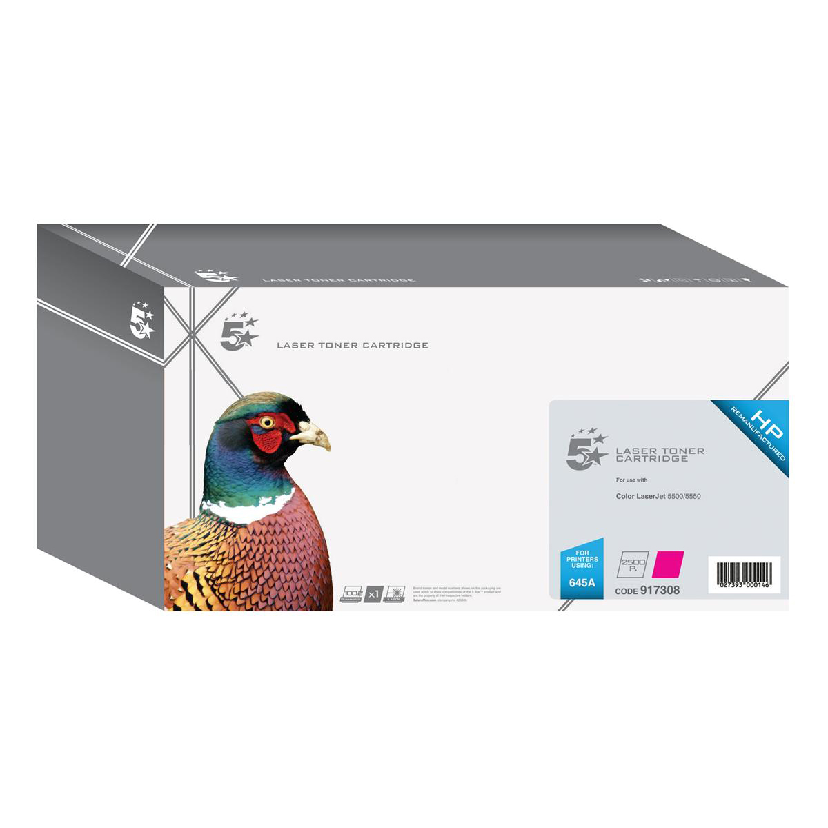 5 Star Office Remanufactured Laser Toner Cartridge Page Life 12000pp Magenta [HP 645A C9733A Alternative]