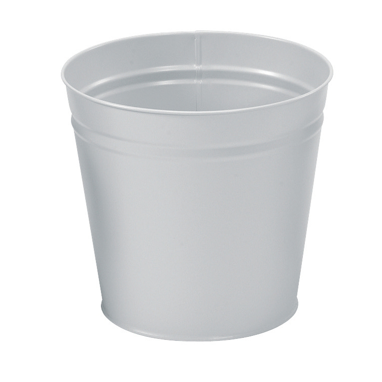 Image for 5 Star Facilities Waste Bin Round Metal Scratch Resistant 15 Litre Capacity 300x280mm Grey (0)