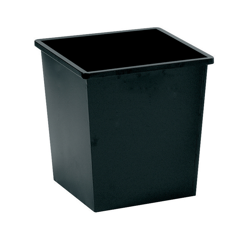 Rubbish Bins 5 Star Facilities Waste Bin Square Metal Scratch Resistant 27 Litre Capacity 325x325x350mm Black