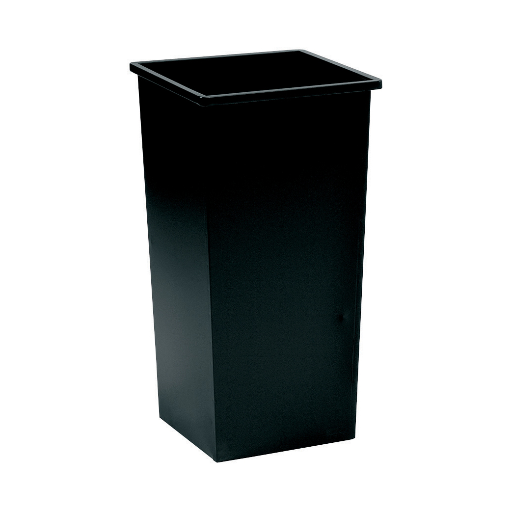 Rubbish Bins 5 Star Facilities Waste Bin Square Metal Scratch Resistant 48 Litres 325x325x642mm Black
