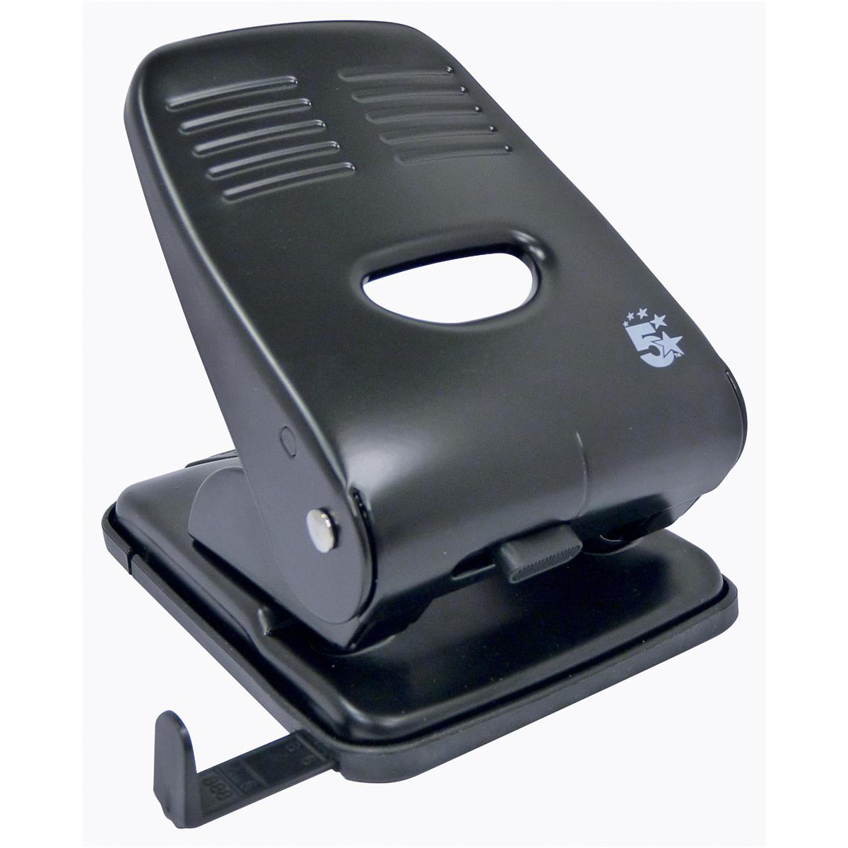 Hole Punches 5 Star Office Punch 2-Hole Metal with Plastic Base Capacity 40x 80gsm Black