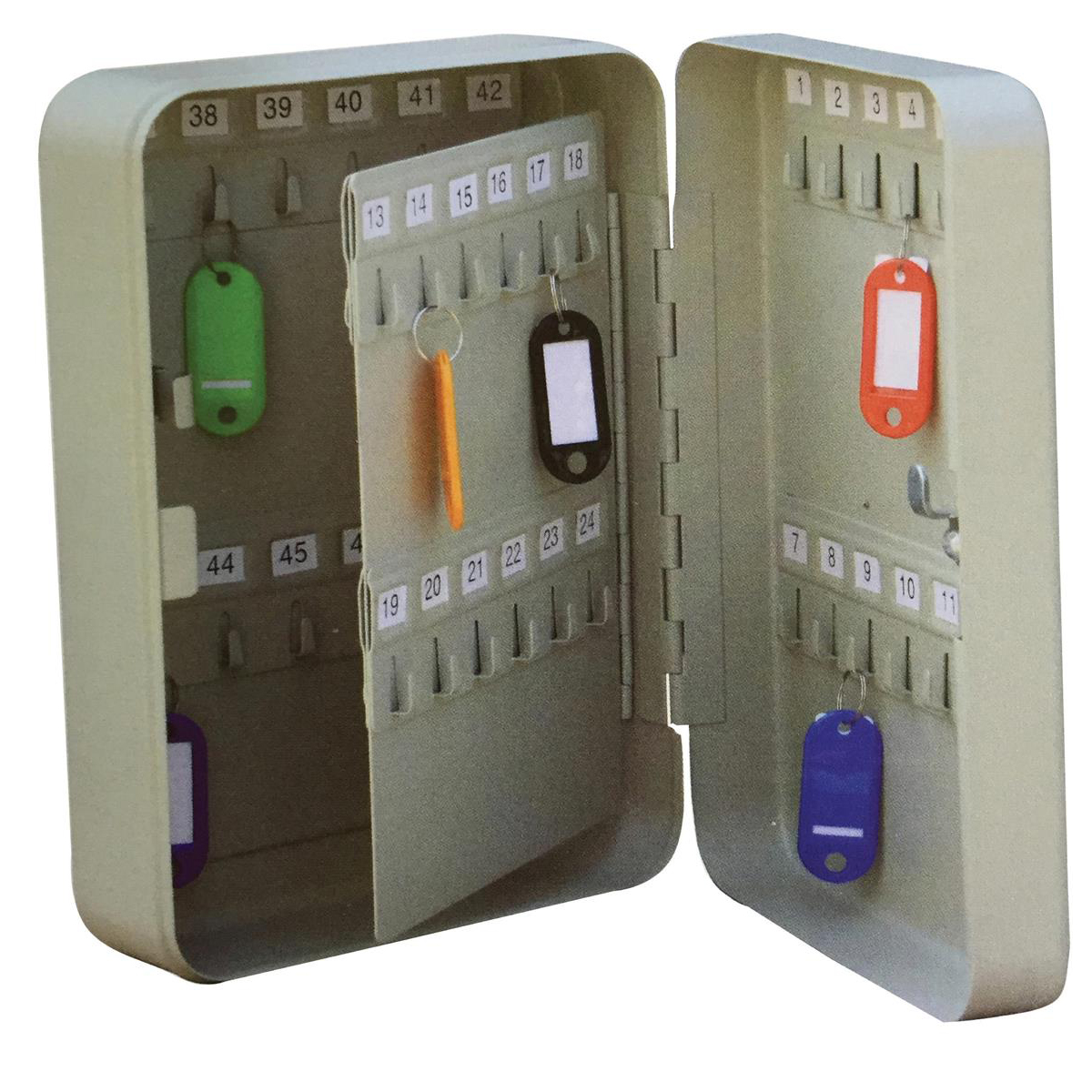 Key Cabinets 5 Star Facilities Key Cabinet Steel Lockable with Wall Fixings Holds 48 Keys W180xD80xH250mm