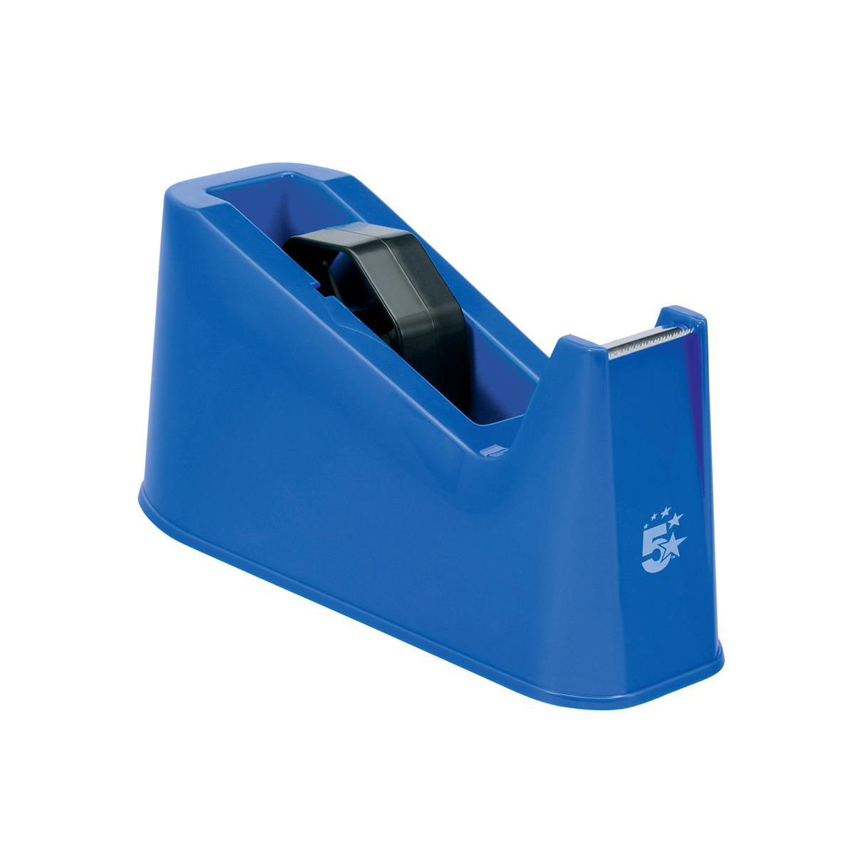 5 Star Office Tape Dispenser Desktop Weighted Non-slip Roll Capacity 25mm Width 66m Length Blue