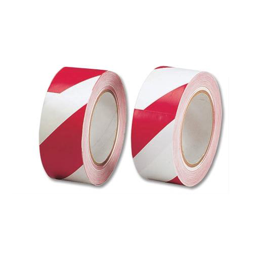 Printed & Coloured Tape 5 Star Office Hazard Tape Soft PVC Internal Use Adhesive 50mmx33m Red and White