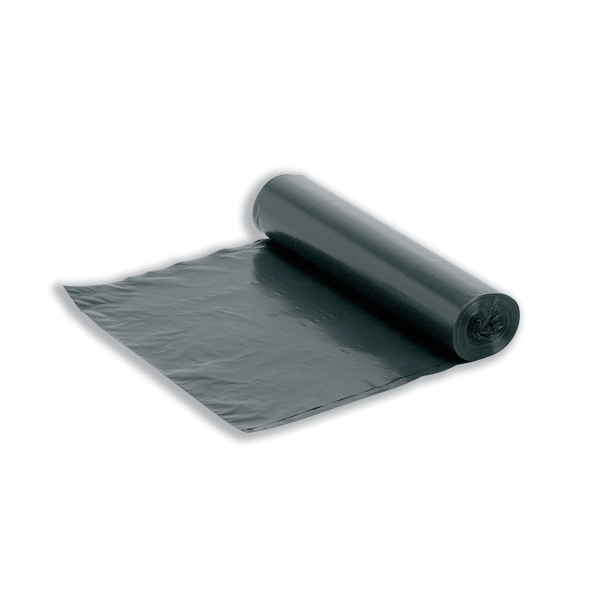5 Star Facilities Bin Liners Medium/Heavy Duty Rolled 95 Litre Capacity W425/725xH840mm Black Roll 20
