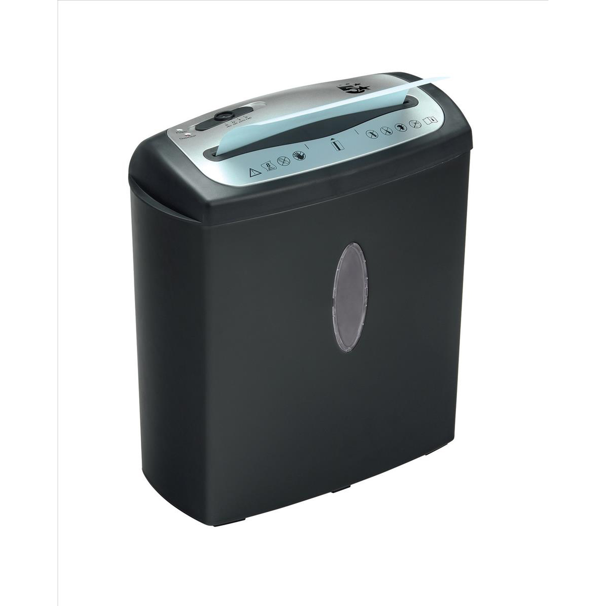 5 Star Office CC8 Shredder Cross Cut P-4 Security 15 Litre Capacity Black