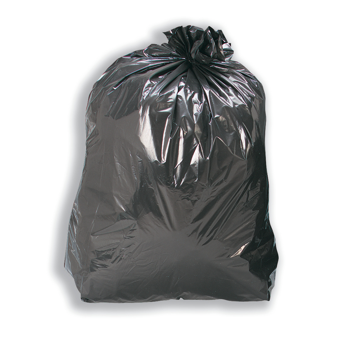 5 Star Facilities Bin Liners Recycled Medium/Heavy Duty 110Ltr Capacity W460/775xH930mm Black [Pack 200]
