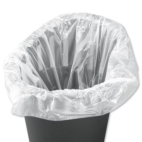 5 Star Facilities Swing Bin Liners Light Duty 40 Litre Capacity W310/505xH710mm White Pack 1000