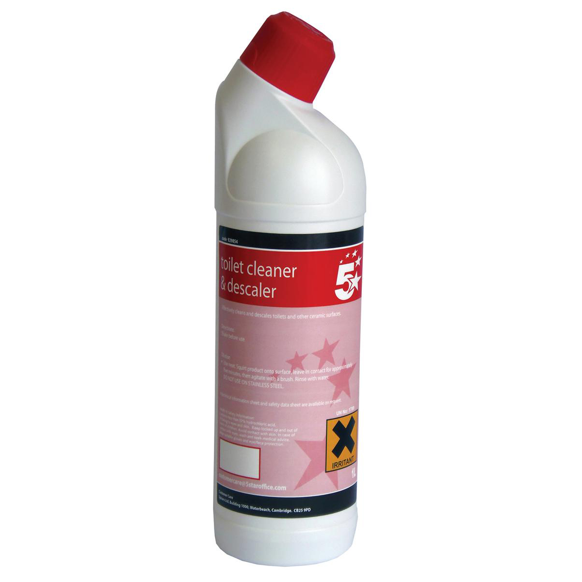 Cleaning Chemicals 5 Star Facilities Toilet Cleaner & Descaler 1 Litre