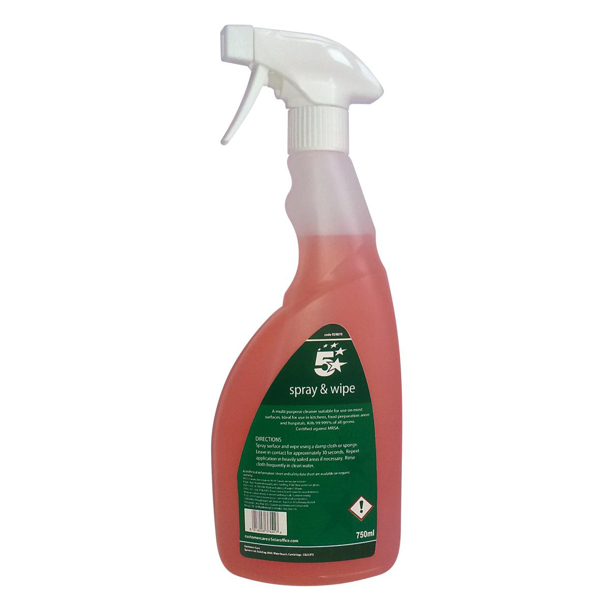 Cleaning Chemicals 5 Star Facilities Catering Cleaner 750ml
