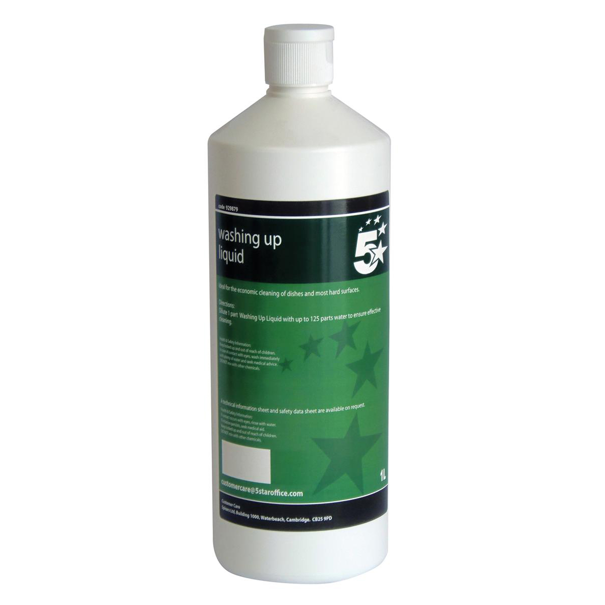 Cleaning Chemicals 5 Star Facilities Washing-up Liquid 1 Litre