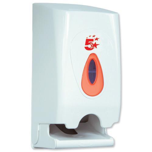 Toilet Tissue & Dispensers 5 Star Facilities Twin Toilet Roll Dispenser W148xD150xH315mm White