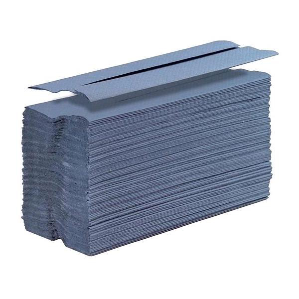 Hand Towels & Dispensers 5 Star Facilities Hand Towel C-Fold One-ply Recycled 220x305mm 192 Towels Per Sleeve Blue Pack 15