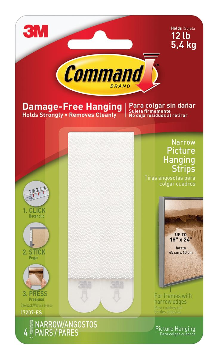 Image for Command Picture Hanging Strips Narrow Ref 17207 [4 Pairs]