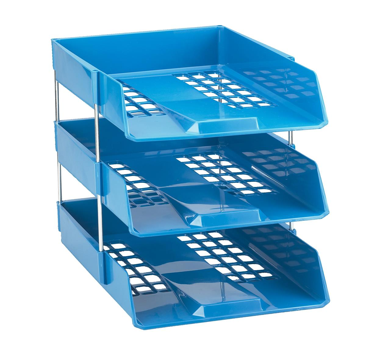 Image for Avery Basics Letter Tray Stackable Versatile A4 Foolscap W278xD390xH70mm Blue Ref 1132BLUE