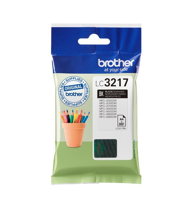Brother Inkjet Cartridge Page Life 550pp Black Ref LC3217BK
