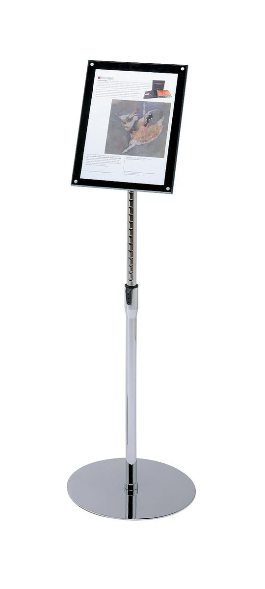Image for Sign Holder with Bevel Magnetic Cover Floor Standing Heavyweight A4