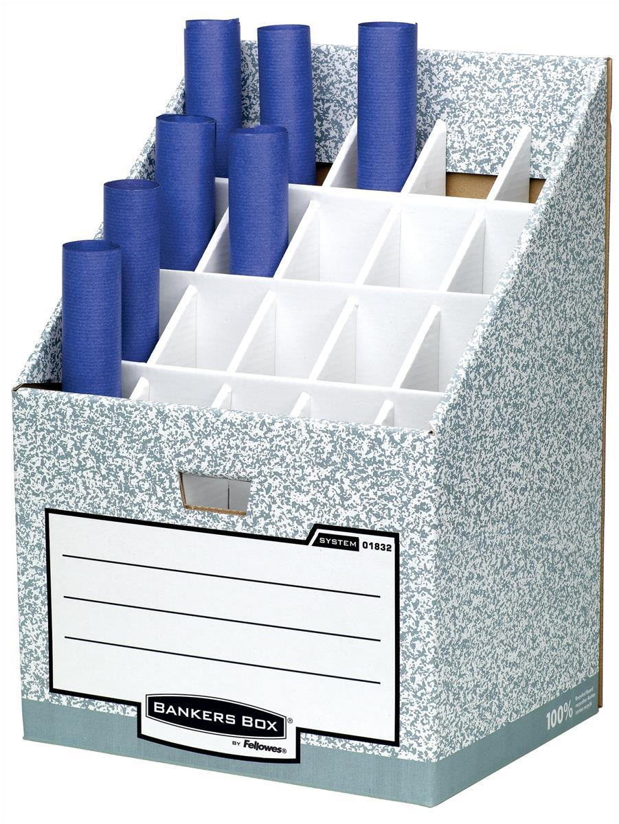 Image for Bankers Box by Fellowes System Roll Stor Stand for Rolled Documents Grey-White Ref 01832