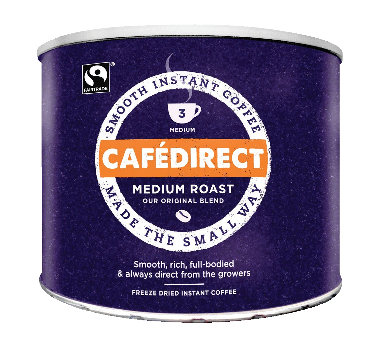 Cafe Direct Classics Instant Coffee Fairtrade Medium Roast Tin 500g Ref A02900