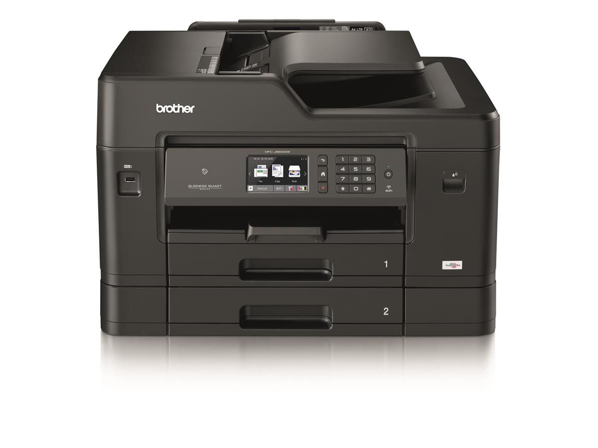 Image for Brother Colour Inkjet Multifunction Printer Wired and Wireless 20ipm A3 Black/Silver Ref MFCJ6930DWZU1