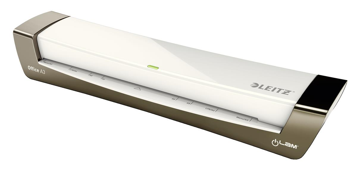 Leitz iLam Office Laminator Up To 125 Microns 1min Warm-up Time A3 Silver Ref 72531084