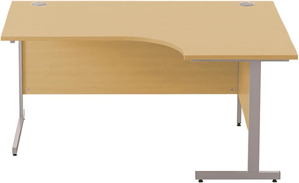 Image for Sonix Cantilever Radial Desk 1600mm Natural Oak
