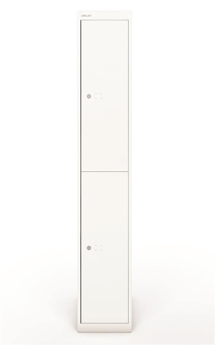 Image for Bisley Steel Locker 457 Two Door Chalk White