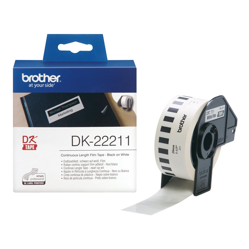 Image for Brother Label Continuous Film 29mm x 15.24m White Ref DK22211